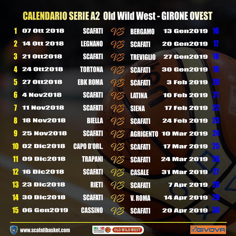 Calendario Basket A2 Ovest.Givova Scafati Ecco Il Calendario Della Regular Season