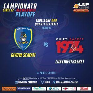 Locandina gara uno quarti di finale playoff Scafati - Chieti